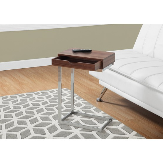 Diva  C Table With Drawer Walnut